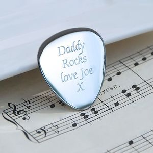 Personalised Guitar Plectrum - gifts for fathers