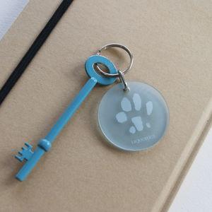 Personalised Paw Print Key Ring