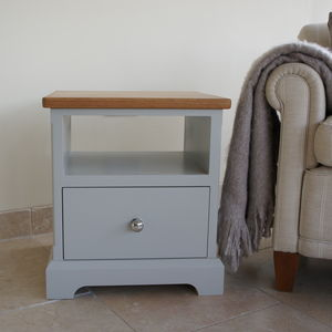 Ashford Lamp Table With Oak Top In Choice Of Colours - furniture