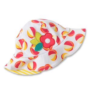Pink Beachball Applique Hat Was £14 - hats, scarves & gloves