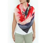 Florida Flamingos Cashmere Shawl Scarf - accessories