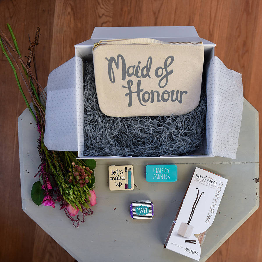 Maid Of Honour Thank You Gift Set By Carabella Gifts