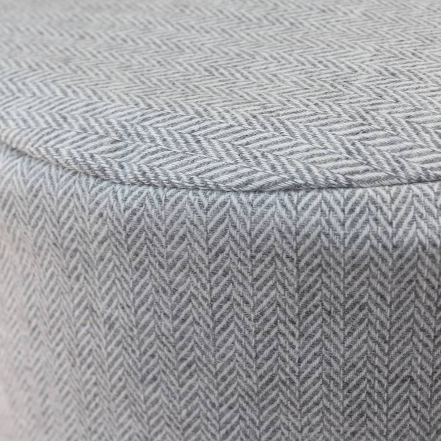 grey herringbone wool foot pouffe by marquis   dawe ... aad227cf2568