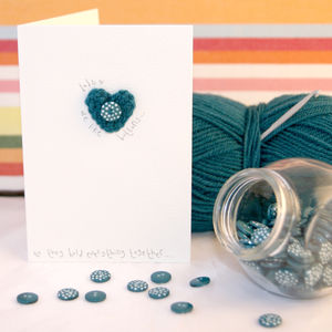 Crochet Heart 'Dads Are Like Buttons' Card