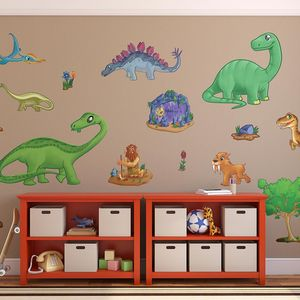 Childrens Dinosaur Wall Stickers Pack One
