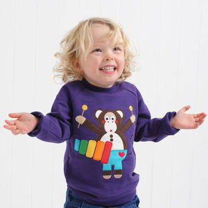 Michael The Monkey Sweatshirt - 1st birthday gifts