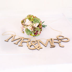 Mr And Mrs Personalised Wedding Bunting Garland - outdoor decorations