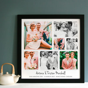 Personalised Wedding Photo Collage - canvas prints & art