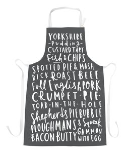 English Food Apron