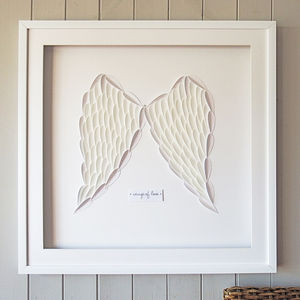 Framed 'Wings Of Love' 3D Artwork