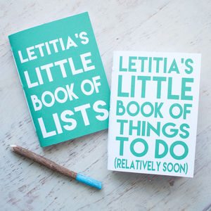 Personalised Lists And Things To Do Notebook Set - gifts for her