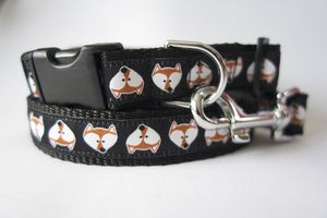 Fantastic Mr Fox Dog Collar And Lead Set
