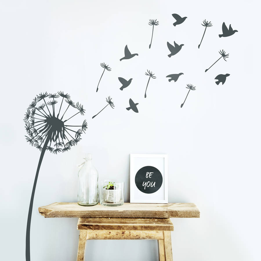 Perfect dandelion wall decals home design 989 dandelion wall sticker by oakdene designs notonthehighstreet amipublicfo Images