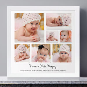Personalised Baby Photo Collage - canvas prints & art for children