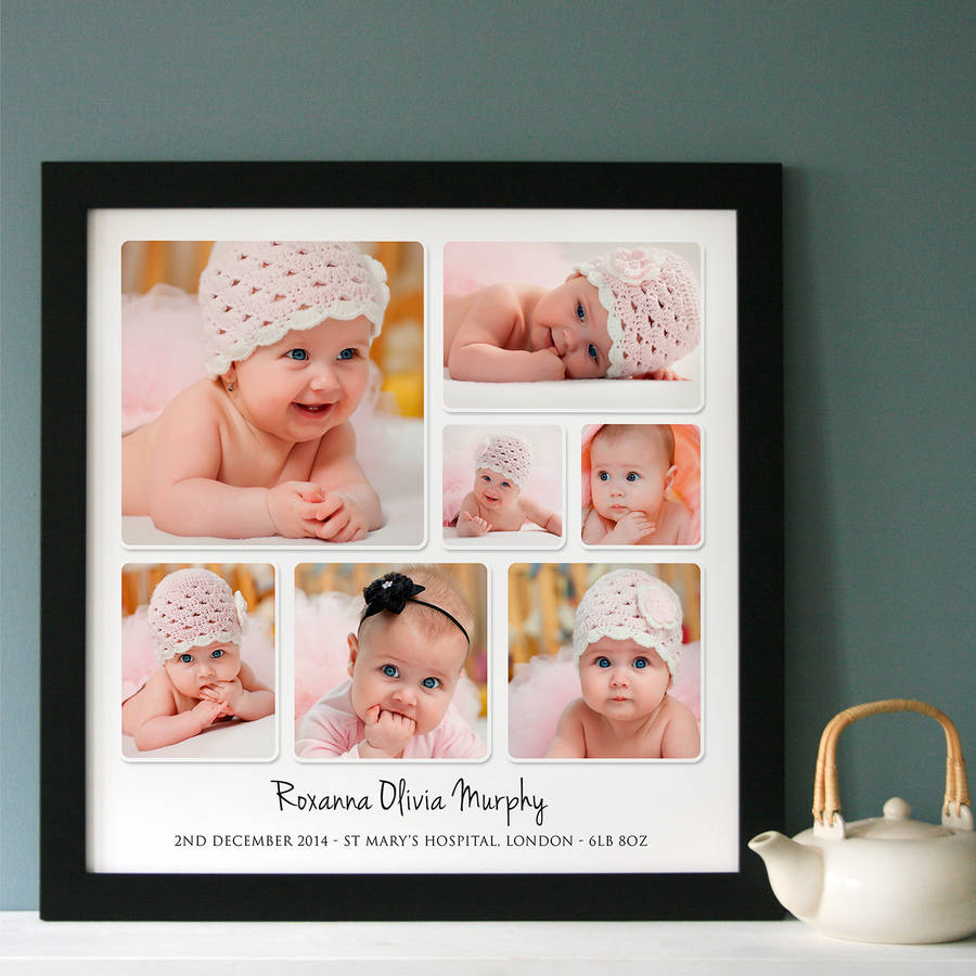 personalised baby photo collage by cherry pete ...