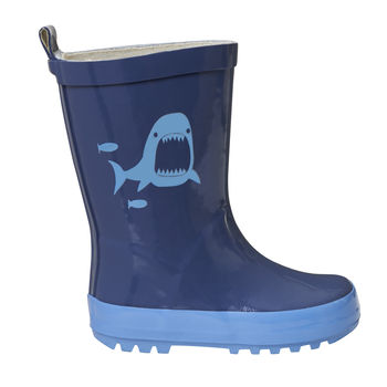 Child's Colour Changing Shark Wellington Boots