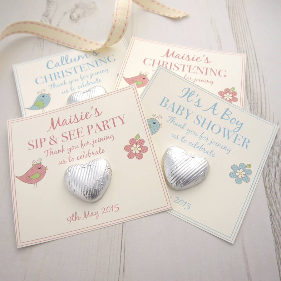 Christening Baby Shower Gift Favours By Tailored