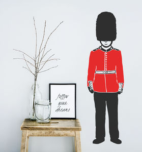 Queen's Guard Soldier Vinyl Wall Sticker - decorative accessories