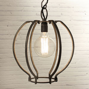 Wrought Iron Globe Light - dining room