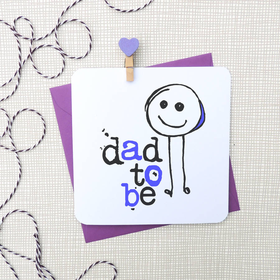 Dad to be new baby greeting card by parsy card co dad to be new baby greeting card m4hsunfo