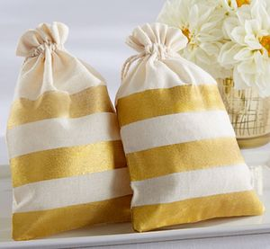'Gold Stripe' Glam Favour Bags