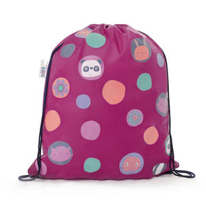 Child's Colour Changing Polka Dot Drawstring Bag