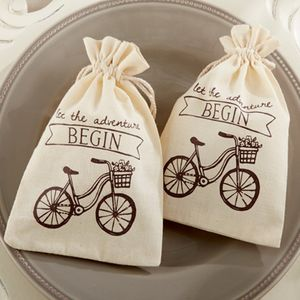 'Let The Adventure Begin' Vintage Inspired Favour Bag - wedding favours