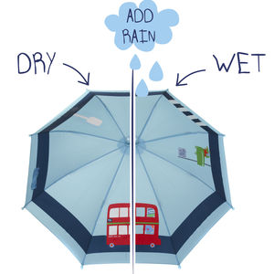 Child's Colour Changing Bus Umbrella - children's coats & jackets