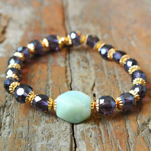 Amazonite And Crystal Bracelet - women's jewellery