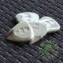 Solid Silver Jazz Fat Guitar Pick / Plectrum