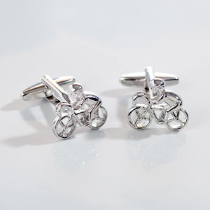 Road Cycling Cufflinks - gifts for cyclists