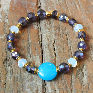 Bright Crystal And Agate Bracelet