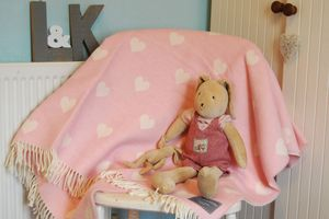 Lambswool Hearts Or Stars Throws And Cushions - throws, blankets & fabric