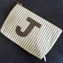 Mens Stripey Personailsed Letter Wash Bag