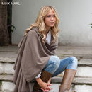 Knitted Cashmere Wrap - Mink Marl