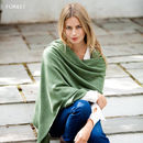 Knitted Cashmere Wrap - Forest