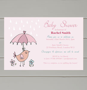 Personalised Baby Shower Invitations - children's parties