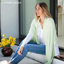 Knitted Cashmere Wrap - Summer Green