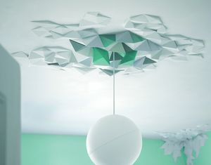 Geometric Ceiling Rose - lighting