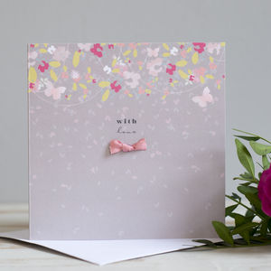 'With Love' Luxury Hand Finished Card - birthday cards