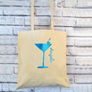 Cocktail Glitter Personalised Tote Bag