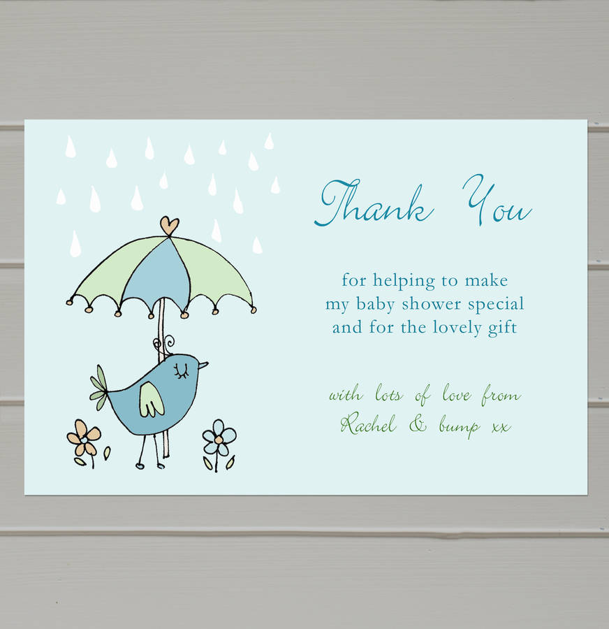 personalised baby shower thank you cards by molly moo designs ...