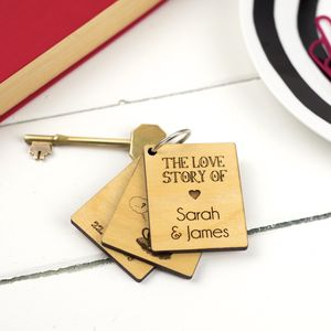 Personalised Love Story Key Ring