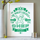 Personalised Typographic Chef Print