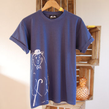 Bear And Bow Tie T Shirt