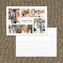 Personalised Photo Montage Wedding Thank You Postcard