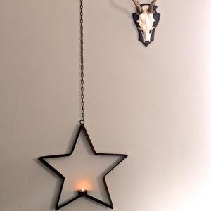 Hanging Star Tea Light Holder