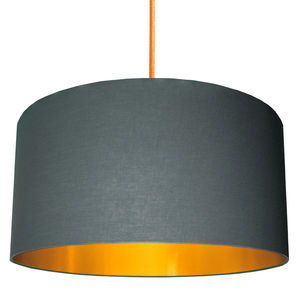 Slate Grey Shade With Copper Or Gold Lining - lampshades