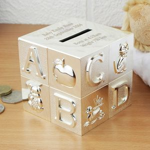 Personalised Alphabet Money Box - christening gifts
