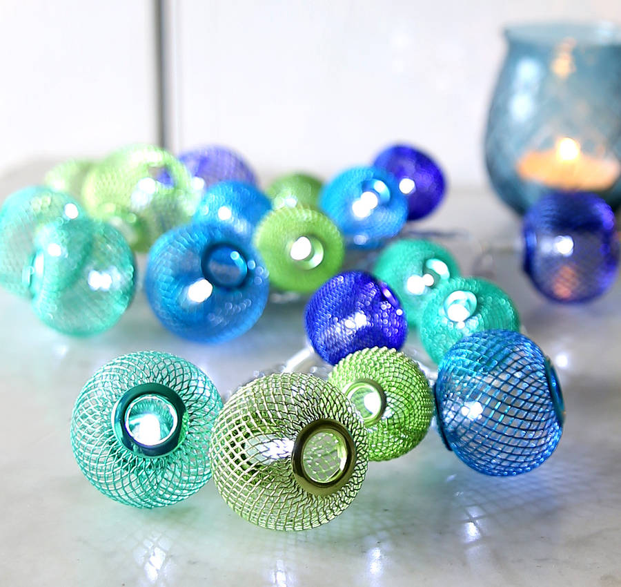Aquamarine Sphere Light Garland